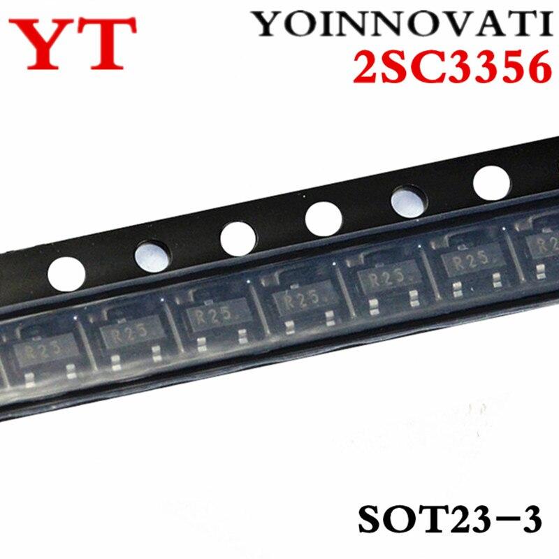 50pcs/lot 2SC3356 3356 R25 0.1A/12V NPN SOT23 IC  Best Quality