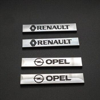 2pcs 3D metal for Opel  Renault Car Fender side Emblem Badge Decal Sticker Megane Latitude Vel Satis captur FRENDZY CLIO koleos цена 2017