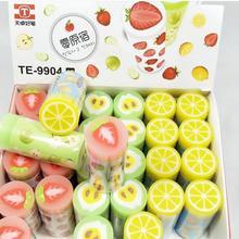 Корейский мультфильм свежий фруктовый карандаш ластик школьные принадлежности резиновый ластик художественный Рисунок резиновый офисный чистящий ластик детский подарок 60 шт./лот