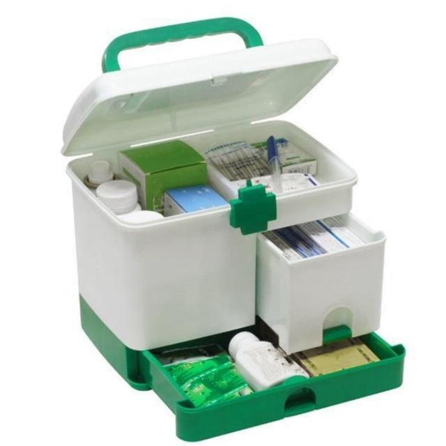 First Aid Kit Box Medicine Medical Storage Box Medical Plastic Drug Gathering Organizer Boxes Storage Container