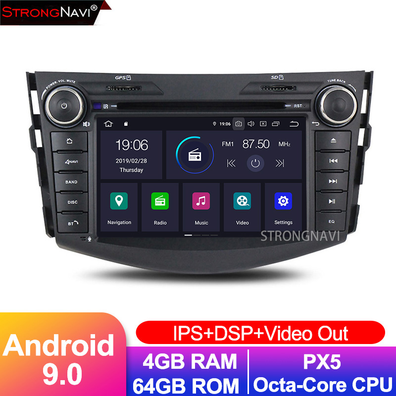 7inch IPS DSP Android 9.0 2Din <font><b>Car</b></font> Radio Touch screen GPS <font><b>Multimedia</b></font> Player For <font><b>TOYOTA</b></font> <font><b>RAV4</b></font> <font><b>2006</b></font>-2012 Support WIFI Camera image