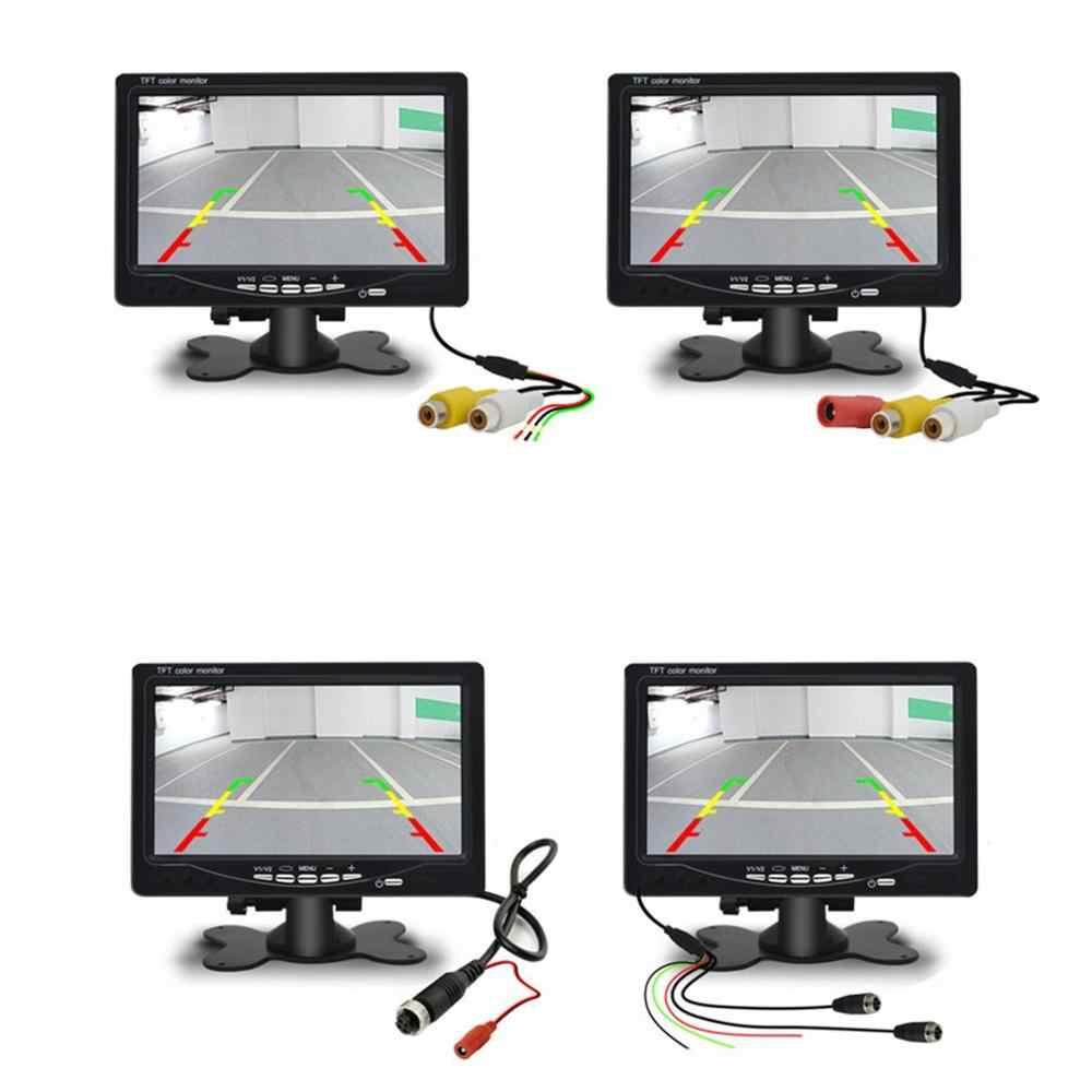 7 بوصة سيارة مسند الرأس شاشة عرض عرض الرؤية الخلفية و Wifi الرؤية الخلفية عكس كاميرا احتياطية شاشة عرض تلفزيون لسيارة