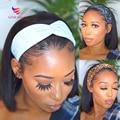 Gerade Bob Stirnband Perücke Menschliches Haar Gerade Menschliches Haar Perücken Für Schwarze Frauen Maschine Gemacht Remy Kurze Bob Menschliches Haar perücken