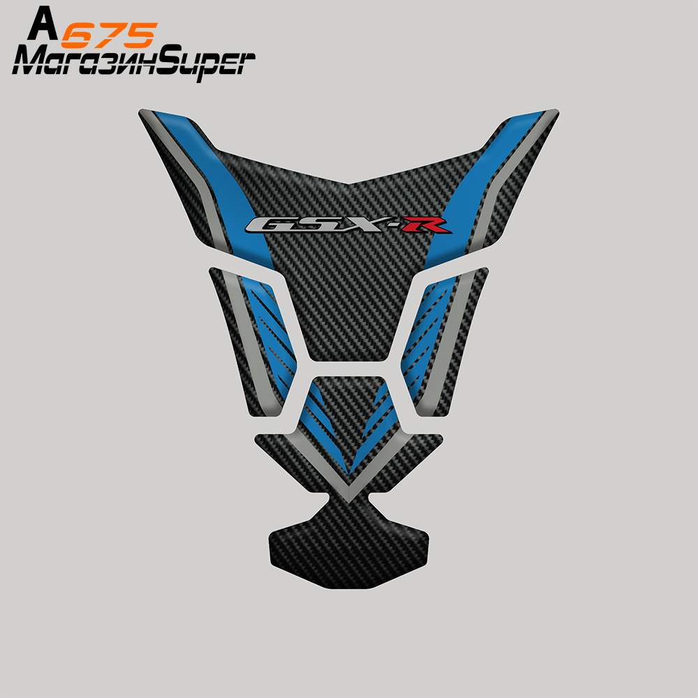 New motorcycle 3D carbon fiber tank fish bone decoration <font><b>stickers</b></font> Fit For <font><b>Suzuki</b></font> GSXR 600 750 1000 K1 K4 K5 K6 K7 K8 K9 K11 L1 image