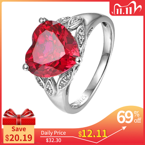Image 1 - Ruby Silver Ring Created Ruby Solid Silver Ring For Women Party And Birthday Romantic Beautiful For Women wedding ring