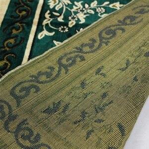 Image 5 - Новый Цветочный мусульманский молящийся коврик, мусульманский коврик для молитв, покрывало голубого, зеленого цвета, салат, мусалла, Дорожный Коврик для молитвы