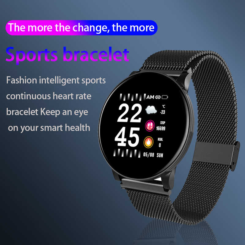 LYKRY חכם שעון גברים נשים דם לחץ פעילות ספורט צמיד כושר Tracker דם חמצן צג smartwatch עבור אנדרואיד