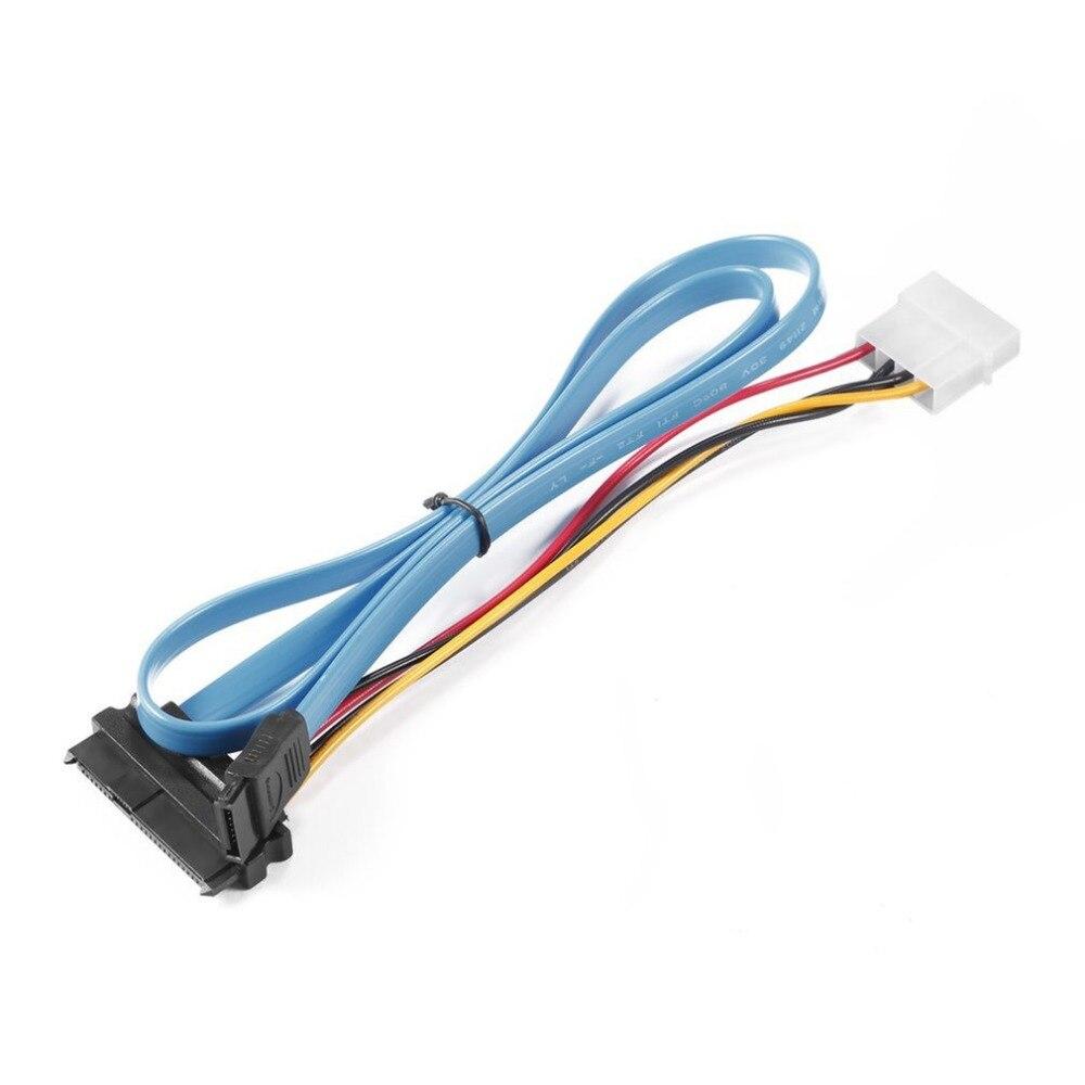 קרסים עופרות אביזרים וביגוד פין 7 SATA Serial ATA ל- SAS 29 פין & 4 מתאם מחבר פין לכבל זכר עבור 2.5 אינץ HDD כונן קשיח (1)