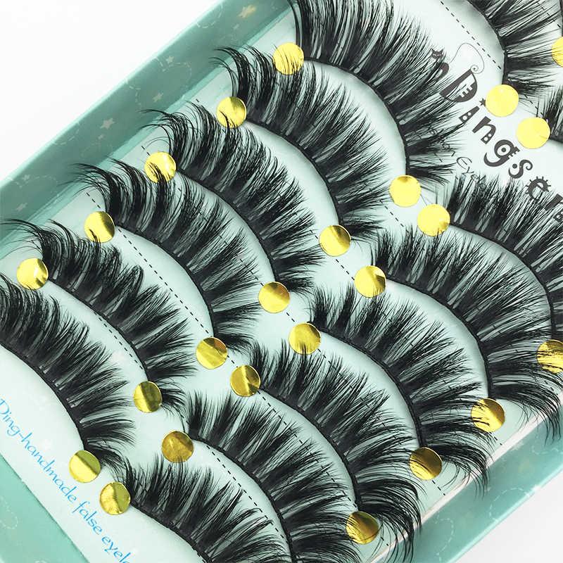 10 Pairs 3D Nerz Haar flauschigen Falsche Wimpern Natürliche Starke Lange Wimpern Wispy Make-Up Schönheit Verlängerung Werkzeuge großhandel preis