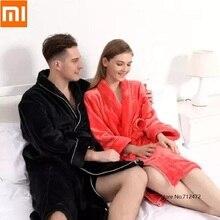 Nieuwe Herfst Winter Casual Paar Badjas Comfortabele Lange Mouw Mannen Vrouw Gewaad Sjaal Kimono Dikke Warme Jas