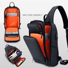 2020 neue Crossbody-tasche für USB lade Männer Schulter tasche Hohe-qualität Messenger Taschen Männlichen Wasserdichte Kurze Reise Brust tasche Pack