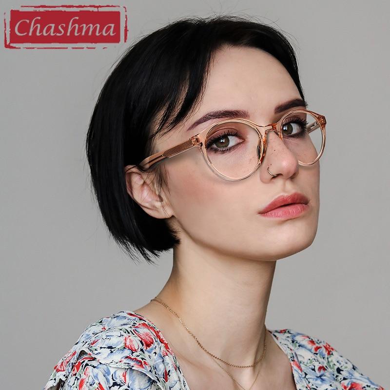 Women Round Prescription Glasses Men Frame Acetate Eyewear Optical Glasses For Recipe Lenses