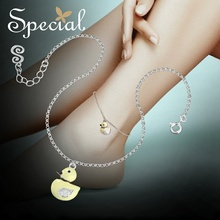 Special Brand Fashion Enamel Maxi Necklace 925 Sterling-Silver-Jewelry Animal Duck Necklaces & Pendants Gifts for Women S1706A