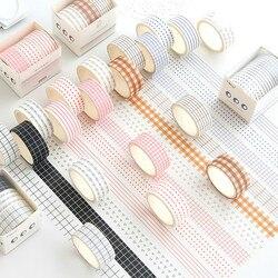 3Pcs/5Pcs/Set Cute Grid Washi Tape Kawaii Flower Animal Adhesive Masking Tape Stickers Scrapbooking DIY Planner Stationery Tape