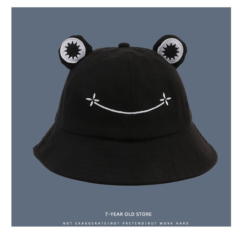 Foldable Cotton Cute Frog Bucket Hat Summer Sunscreen Fisherman Cap Outdoor Fishing Hunting Sunhat caps Beach Caps