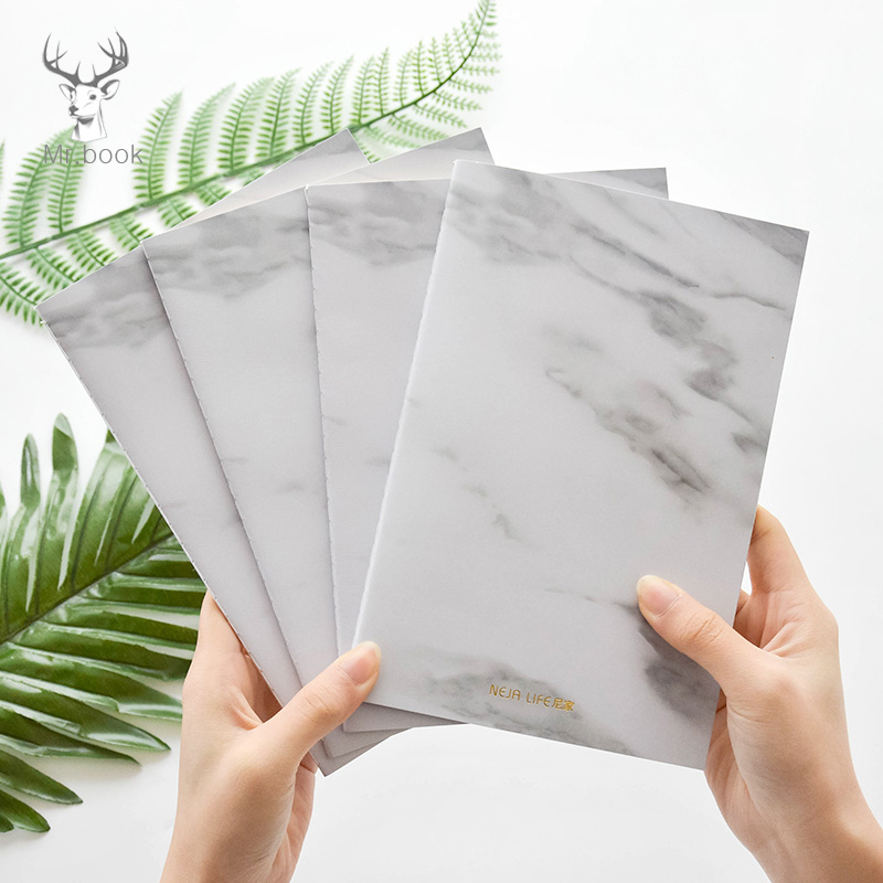 Nordic Style Stationery Marble Design Soft Cover A5/B5 Notebook Paper Notepad Diary Journal Office School Travelers Drawing Gift