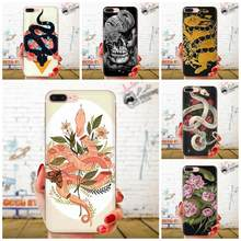 Snake For Huawei Honor Mate 7 7A 8 9 10 20 V8 V9 V10 G Lite Play Mini Pro P Smart Soft Silicone TPU Transparent Protector Cases(China)