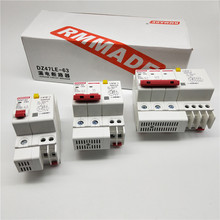 AC220V-400V DZ47LE-63 1P 2P 3P 4P 6A 10A 16A 20A 25A 32A 40A 50A 63A residual current earth leakage protection circuit breaker dz47 63 c63 3p 3 pole ac 230 400v 6a 10a 16a 20a 25a 32a 40a 50a 63a overload protection circuit breaker