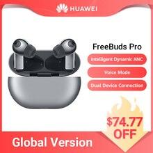 Globalna wersja HUAWEI Freebuds Pro Bluetooth słuchawki redukcja szumów ANC bezprzewodowe ładowanie długi czas czuwania Smartearphone