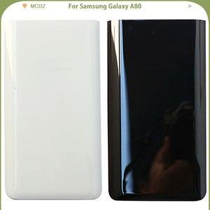 Image 1 - Yeni A80 Samsung Galaxy A80 telefonu pil kapağı arka kapak arka kapı konut