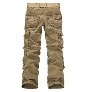 Image 4 - Брюки карго мужские в стиле милитари, Модные свободные тактические штаны, уличные повседневные хлопковые брюки карго с несколькими карманами, большие размеры