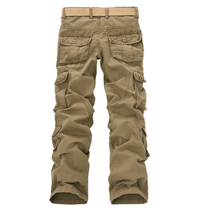 Image 4 - Fashion Military Cargo Pants Men Loose Baggy Tactical Trousers Oustdoor Casual Cotton Cargo Pants Men Multi Pockets Big size