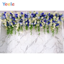 Yeele Wedding Ceremony Flowers Marble Texture Wall Photography Backdrops Personalized Photographic Backgrounds For Photo Studio