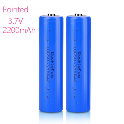 capacity 100% new original 18650 battery 3.7v 2200mah rechargeable lithium battery for flashlight batteries