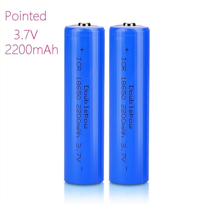 Capacidade 100% original novo 18650 bateria 3.7v 2200mah bateria de lítio recarregável para baterias de lanterna elétrica