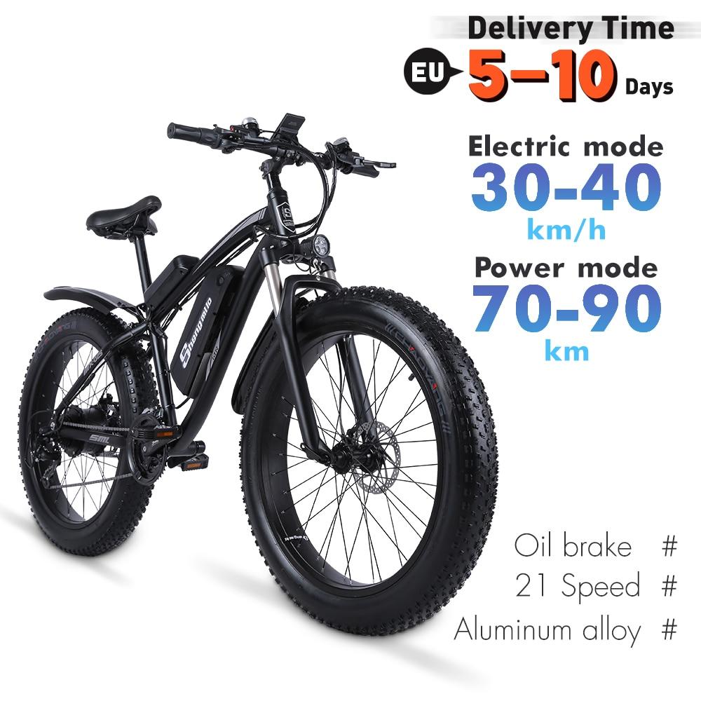 Shengmiluo Electric Bike MX02S Mountain Electric Bike 1000W Bike 26 Inch Men's bicycle Outdoor Beach Mountain Bike 48V17AH 2