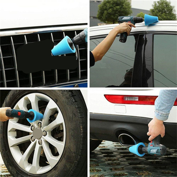 14pcs Car Polishing Kit Buffing Pad 1/3''/6mm Wheel Polishing Cone Car Body Wheels Body Wheel Care Tools Car Cleaning Tools J19 1