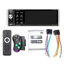 Rádio do carro da imprensa do jogador de 1din mp5 interconexão bidirecional rds am fm 4-usb 5.1 polegadas suporte android