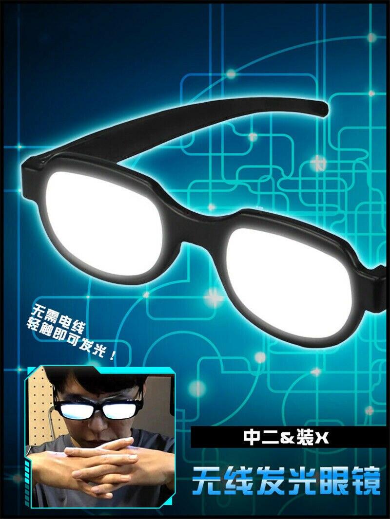 Japão anime led óculos de luz óculos cosplay trajes detetive conan youtube twitter twitch insgram facebook mostrar on-line adereços