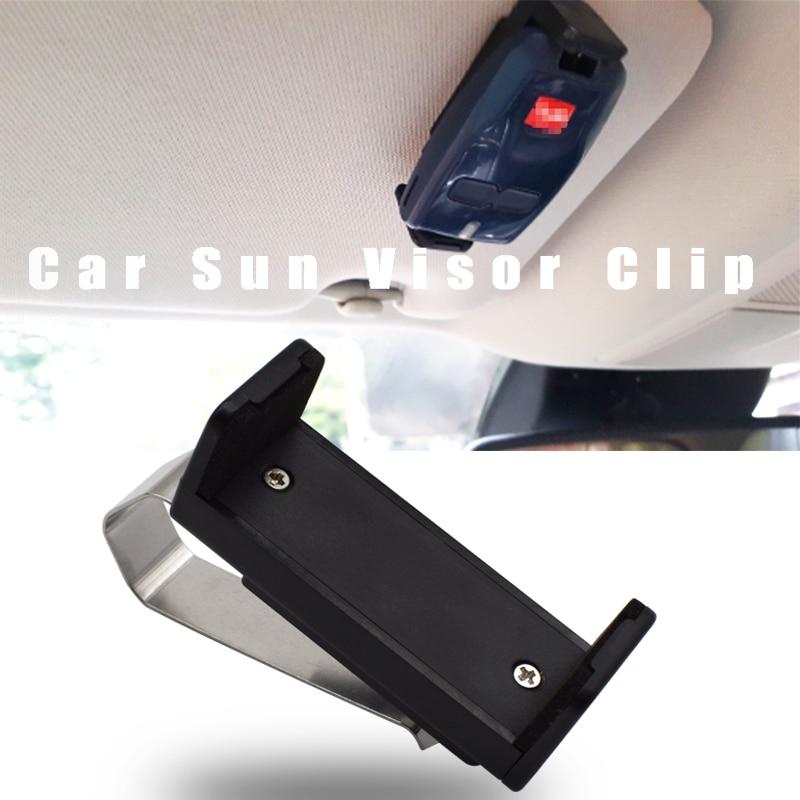 Car Sun Visor Clip Holder Mount Stand 47-68mm For Garage Door Remote Control Car Key Remote Quick Installation