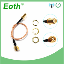 SMA Male to Female Antenna Adapter SMA Plug Connector Pigtail Coaxial Jumper Extension Cable for Antena Antenne 6in f male plug to sma female right angle 90 degree rf connector adapter 15cm pigtail coaxial jumper cable rg174 extension cord