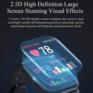Image 2 - Inteligentny zegarek MKS5 zegarek do Fitness wodoodporny Bluetooth Sport tętno Tracker połączenie/wiadomość z przypomnieniem Smartwatch dla androida iOS
