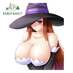 EARLFAMILY 13cm x 10.6cm Sexy Girl Car Decals Dragon's Crown - Sorceress Reflective Vinyl Car Stickers