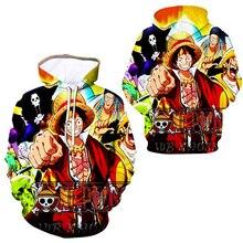 Anime One Piece Hoodies 3D Print hoodie Monkey D  Luffy Ace Sabo Shanks Law Battle Pullover Sweatshirt fashion streetwear