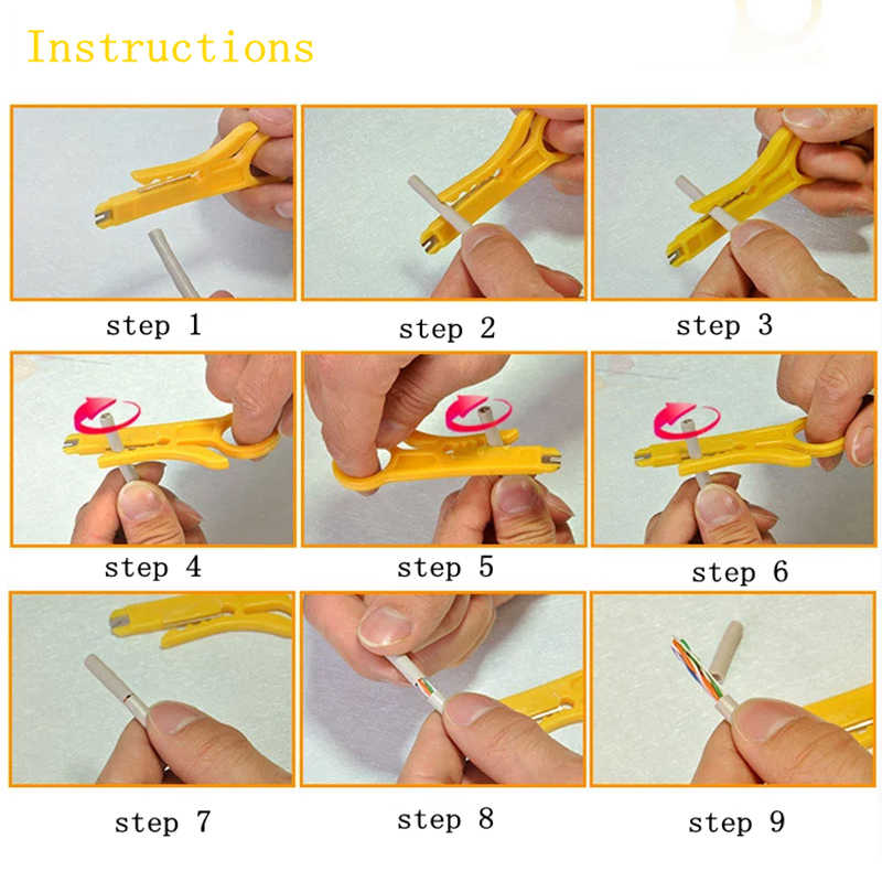 Mini Pocket Portable Wire Stripper Knife Crimper Pliers Crimping Tool Cable Stripping Wire Cutter Crimpatrice Tool Parts