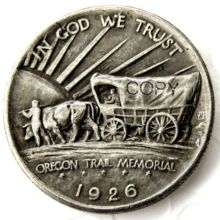 EE. UU. 1926-S Oregon Trail Memorial medio dólar copia monedas de plata(China)