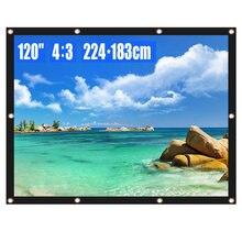 Проектор экран 120 дюймов 4:3 hd складной Анти crease портативный