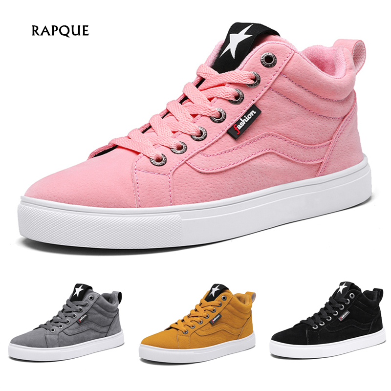 Fashion Women's Sneakers Women Flat Shoes Woman Autumn Winter Casual Sneakers Femme Mens Leather Ankle Shoes Female Dropshipping