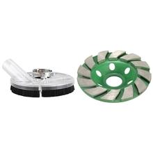 1 zestaw osłona przeciwpyłowa osłona przeciwpyłowa zestaw suchy szlifowanie pokrywa narzędzie i 1 sztuk 4 Cal 100Mm ściernica diamentowa kształt miski tanie tanio CN (pochodzenie) Metalworking tools