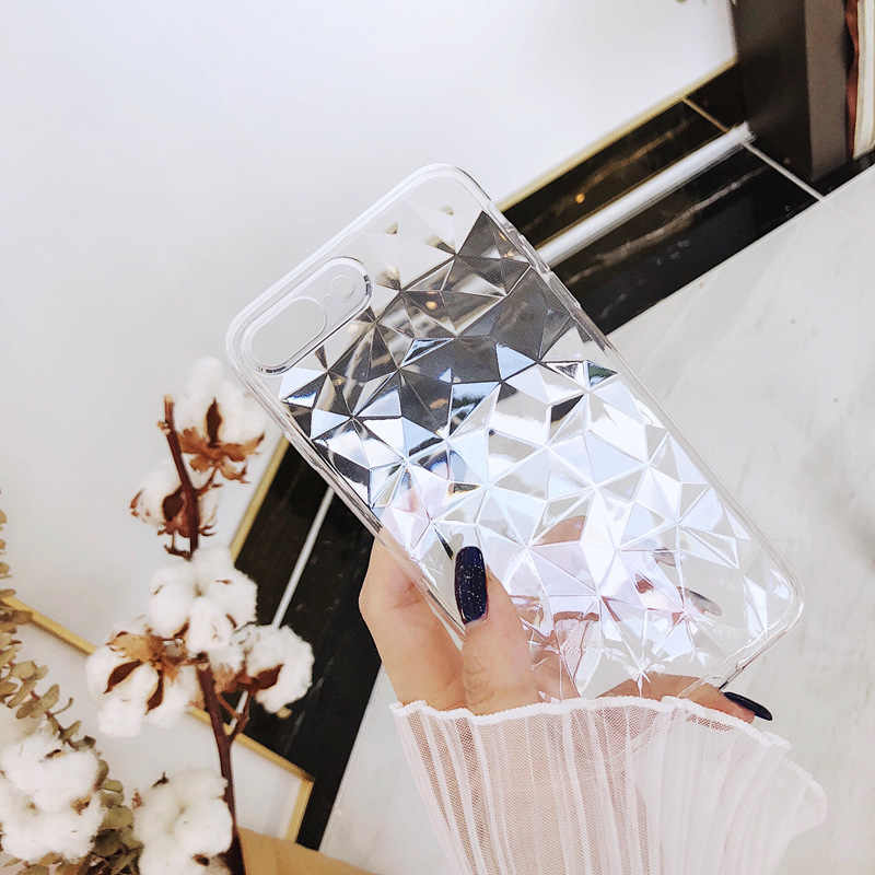 Clear Case For iPhone 11 XI XIR XIS MAX 2019 3D Diamond Transparent Cover Case For iPhone X XR XS Max 8 6 6s 7 8 Plus Soft Case