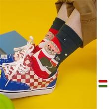 Winter Christmas Gift Socks Harajuku Warm Cute Cotton Crew Socks Cartoon Anime Funny Fashion Street Color Print Happy Socks winter japanese cartoon anime cute animal pikachu socks harajuku fashion trend cotton print crew socks casual happy funny socks