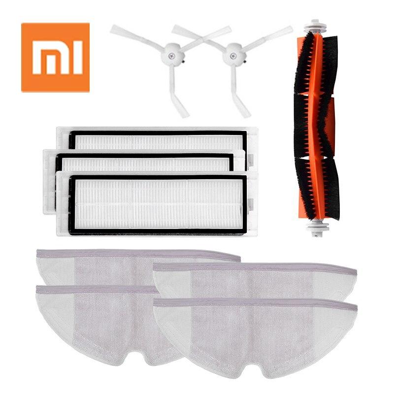 Para xiaomi roborock s50 s51 s55 acessórios xiaomi peças aspirador de pó escova lateral filtro hepa rolo escova mop pano