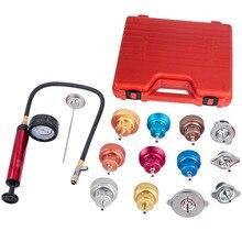 Water Tank Radiator Cooling System Leak Tester Gasket Cap Adapter Gauge Kit