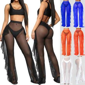 Pantalones Transparentes De Encaje Para Mujer Traje De Bano Para Playa Verano Jamiiprime Store