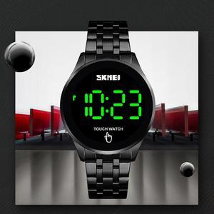 Image 4 - ספורט דיגיטלי שעון SKMEI מותג גברים של שעוני יוקרה נירוסטה גברים שעוני יד LED אור תצוגה אלקטרוני שעון צמיד
