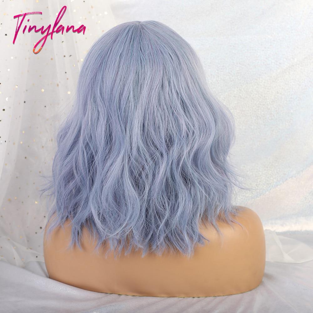 Купить миниатюрные волнистые синтетические парики лана синие/черные
